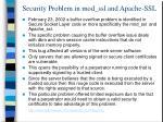 security problem in mod ssl and apache ssl