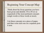 beginning your concept map