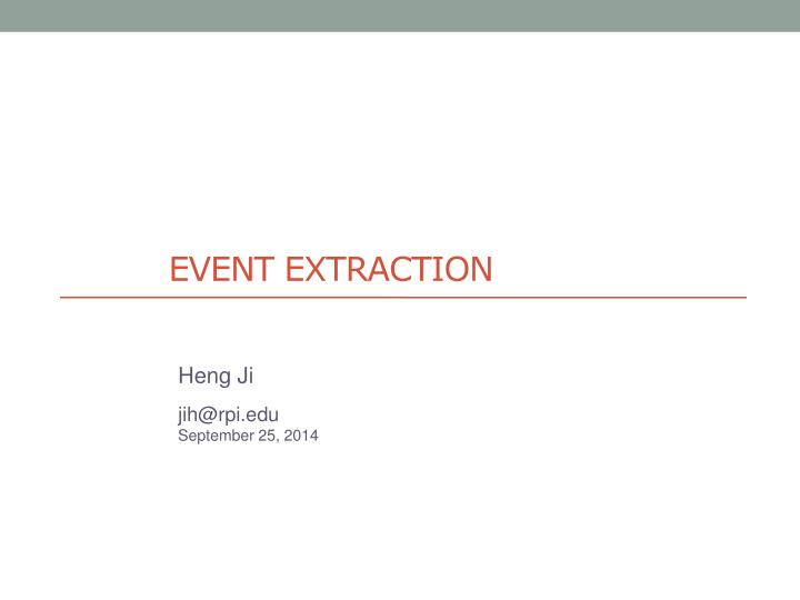 event extraction n.