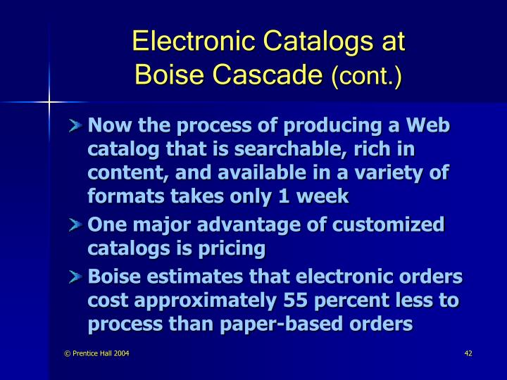 Electronic Catalogs at