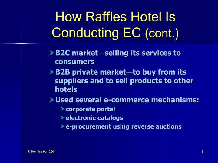 How Raffles Hotel Is Conducting EC