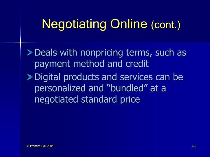 Negotiating Online