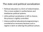 the state and political socialization