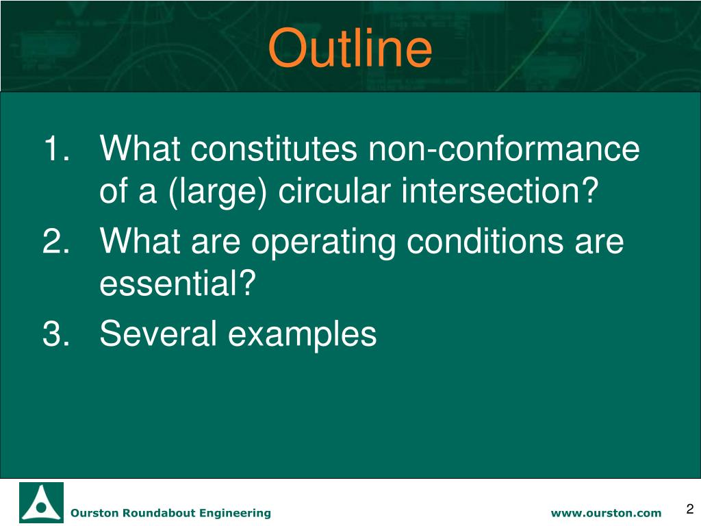 PPT - Converting Non-Conforming Circles to Roundabouts