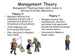 management theory management teaching styles relate closely to intrinsic extrinsic motivators