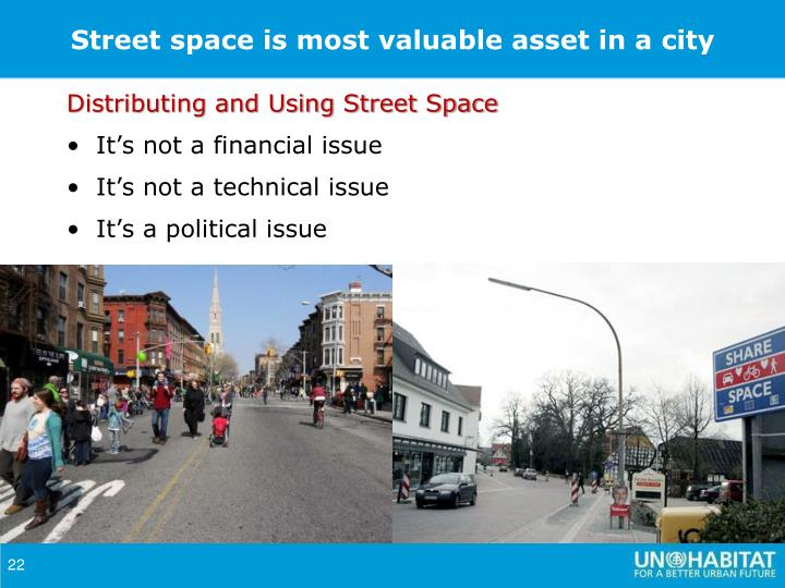 Street space is most valuable asset in a city