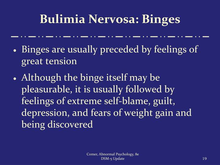 Bulimia Nervosa: Binges