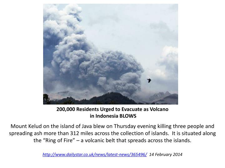 200,000 Residents Urged to Evacuate as Volcano
