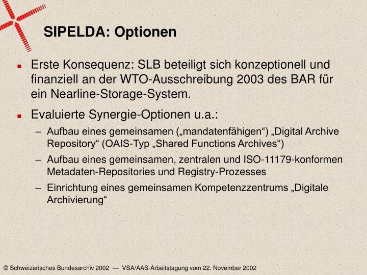 SIPELDA: Optionen