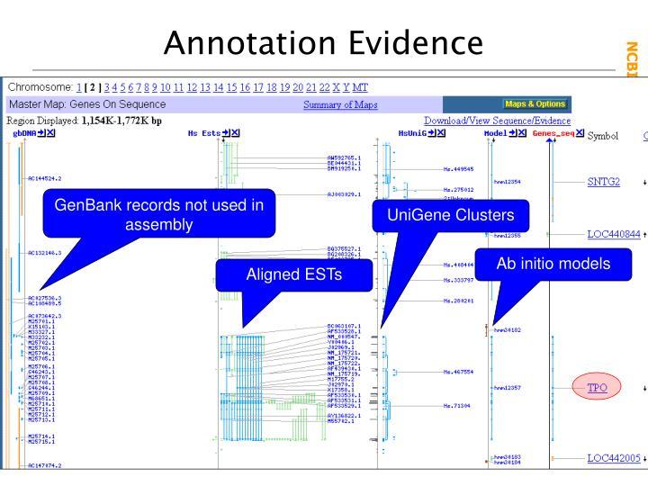 Annotation Evidence