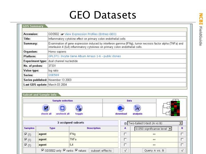 GEO Datasets