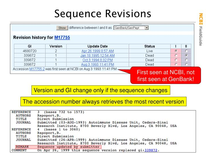 Sequence Revisions