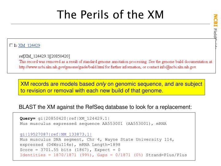The Perils of the XM