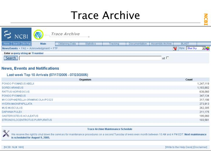 Trace Archive