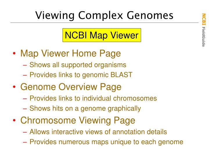 Viewing Complex Genomes