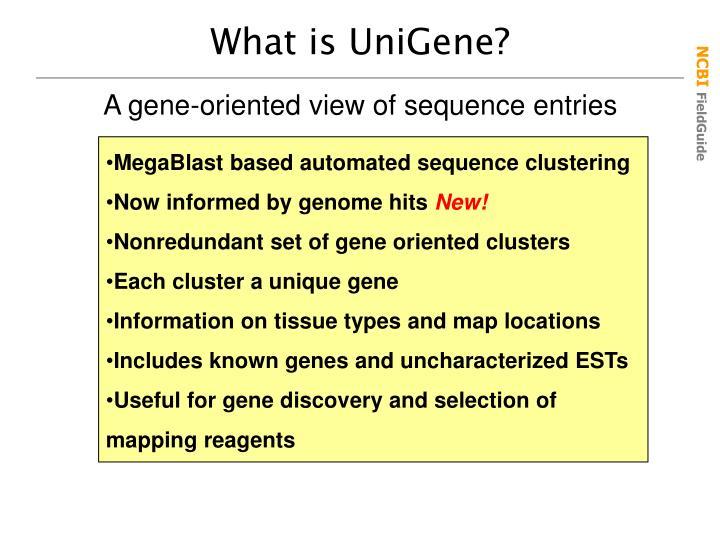 What is UniGene?