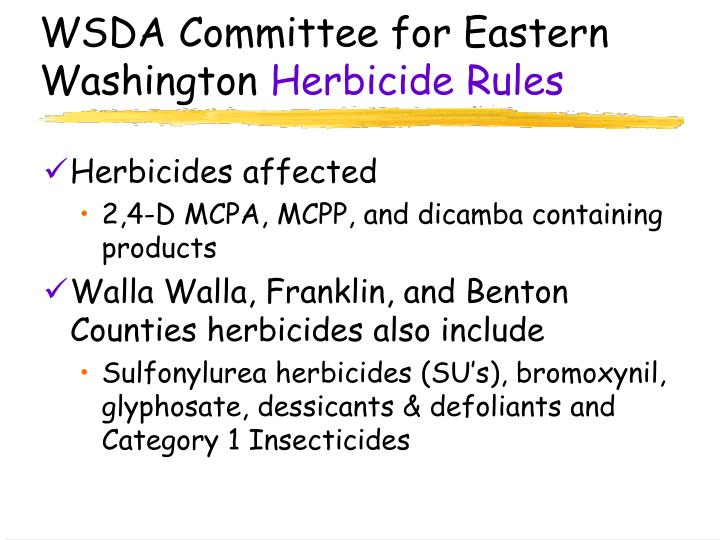 wsda committee for eastern washington herbicide rules n.