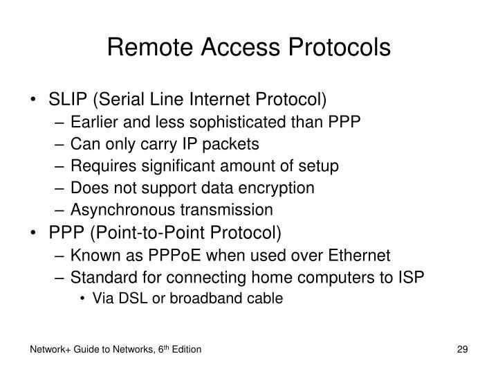 Remote Access Protocols