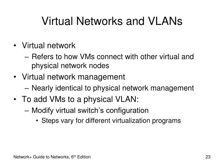 Virtual Networks and VLANs