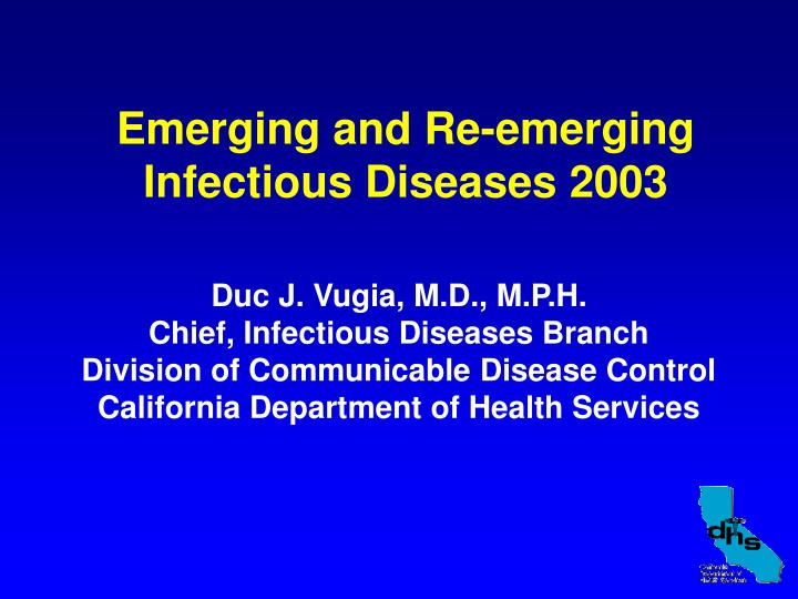 emerging and re emerging infectious diseases 2003 n.