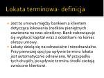 lokata terminowa definicja