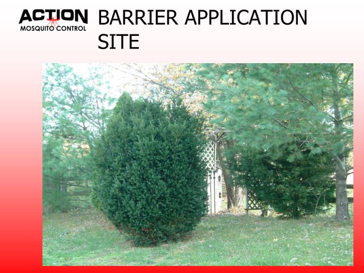 BARRIER APPLICATION SITE