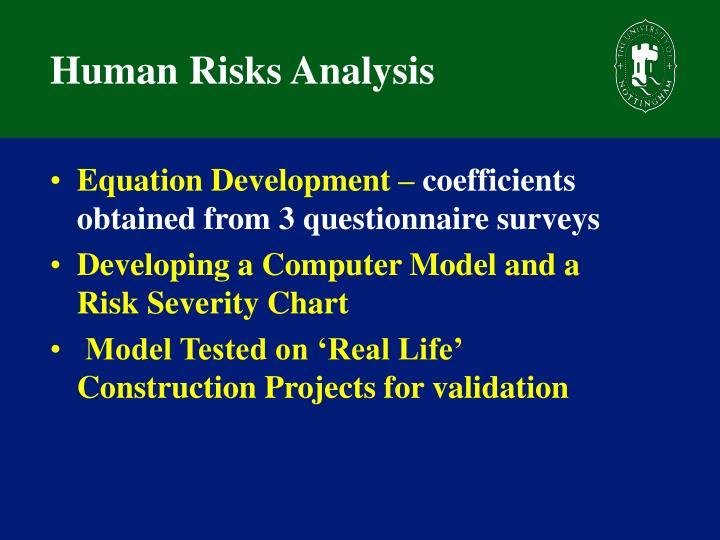 Human Risks Analysis