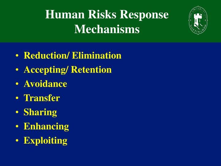 Human Risks Response Mechanisms
