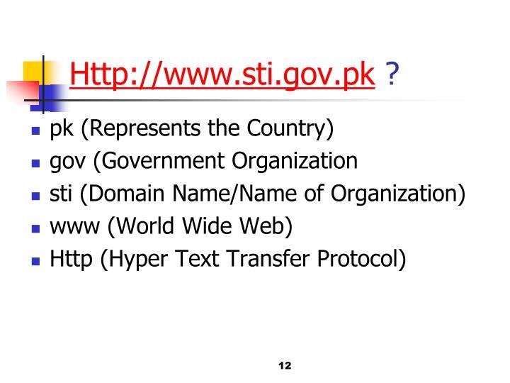 Http://www.sti.gov.pk