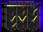 the kick velocity magnitude