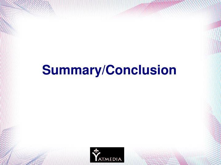 Summary/Conclusion