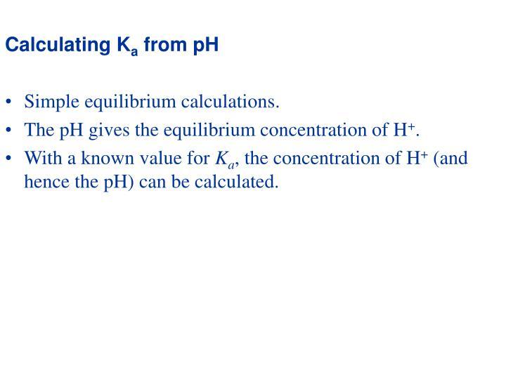 Calculating K