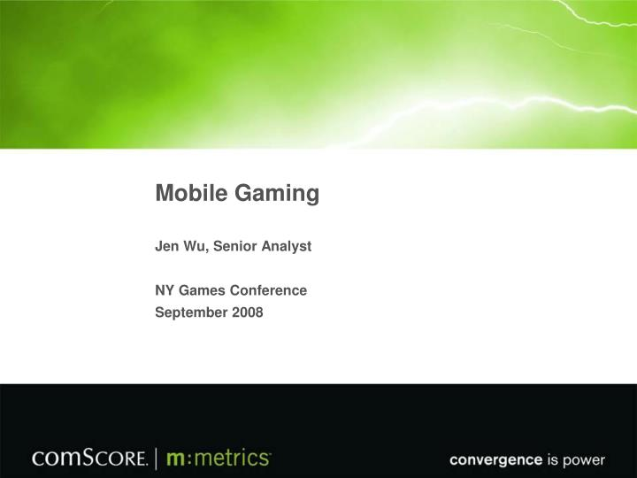 mobile gaming n.