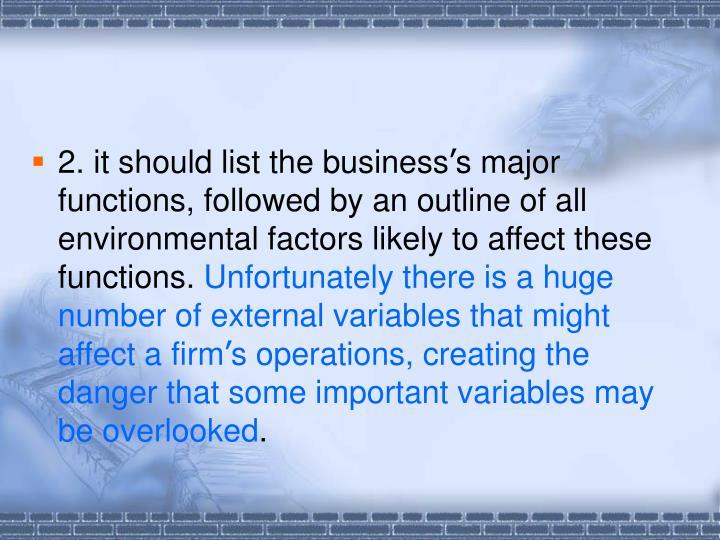 2. it should list the business