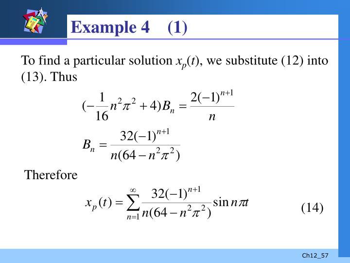 Example 4    (1)