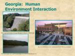 georgia human environment interaction