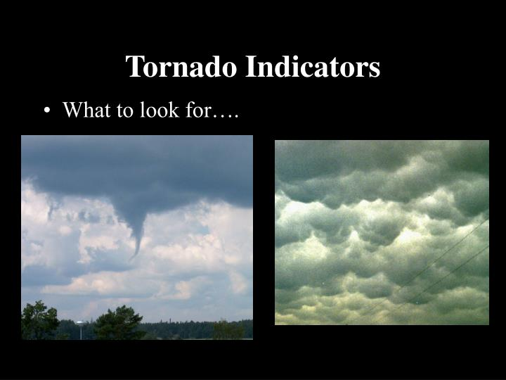 Tornado Indicators