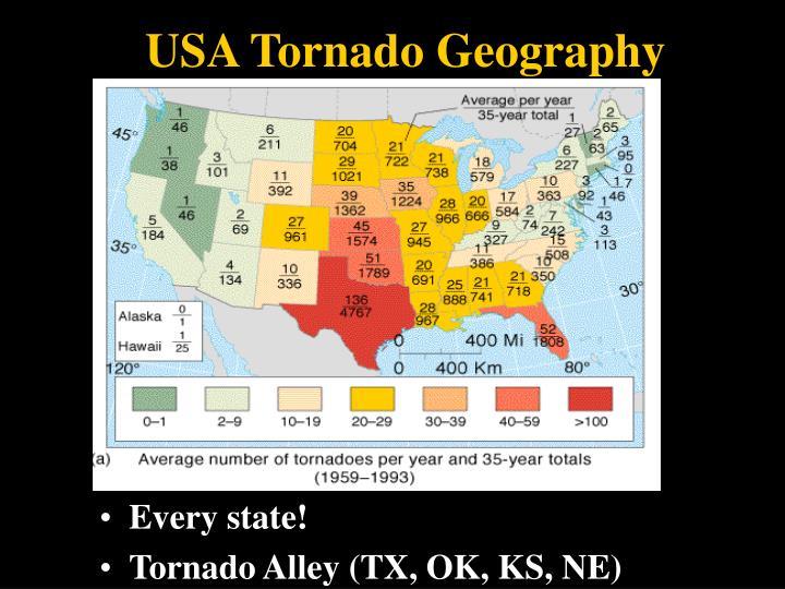 USA Tornado Geography