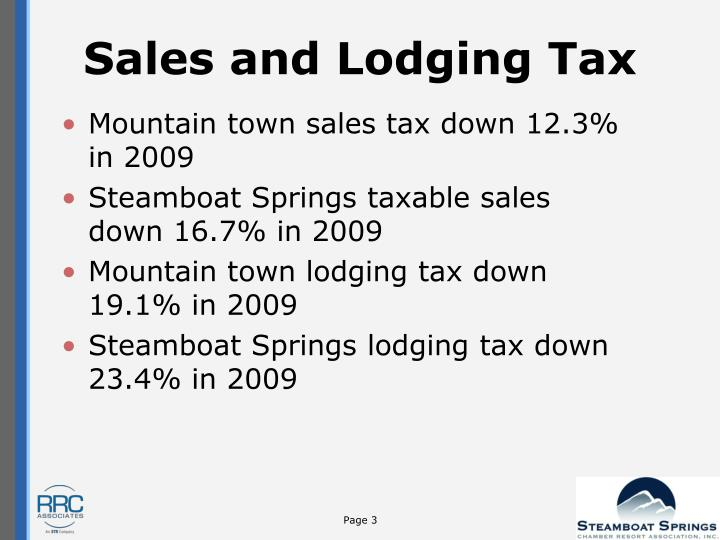 Sales and Lodging Tax
