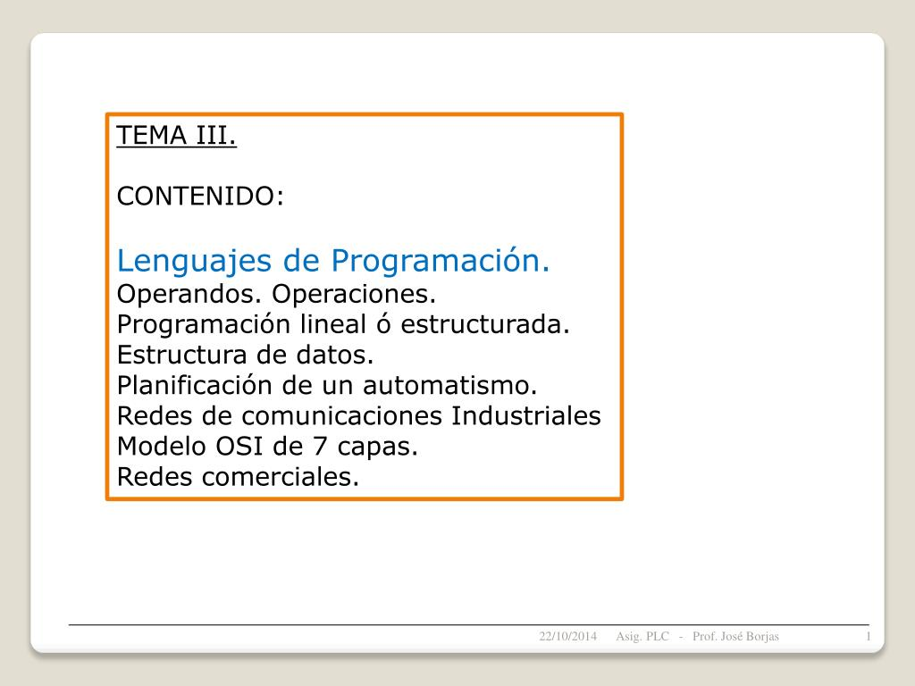 Ppt Tema Iii Contenido Lenguajes De Programación