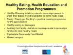 healthy eating health education and promotion programmes