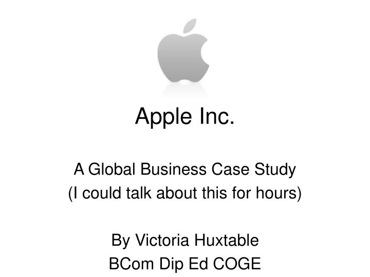 weakness of apple inc and reccomended A case study and analysis on apple inc marketing essay print the best thing each company should do is.
