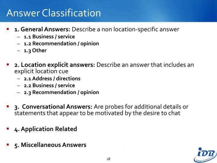 Answer Classification