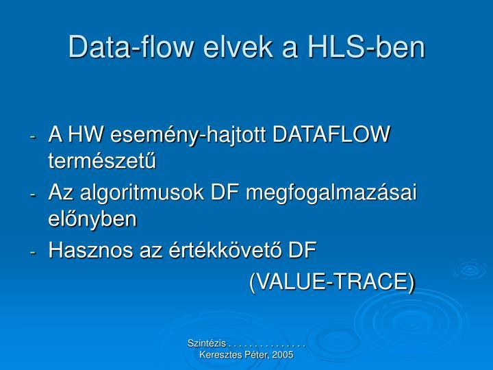 Data-flow elvek a HLS-ben