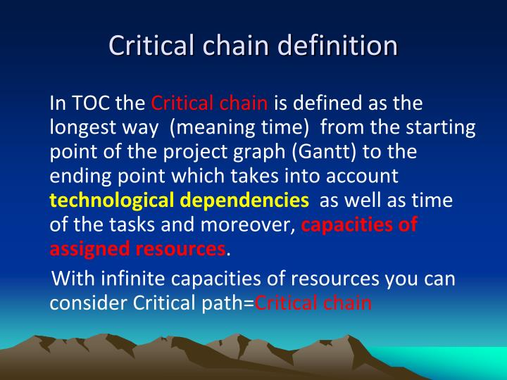 Critical chain definition