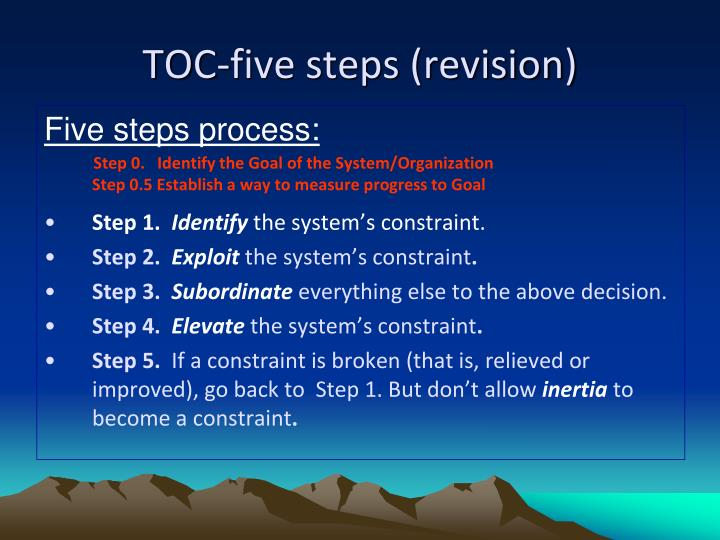 TOC-five steps (revision)