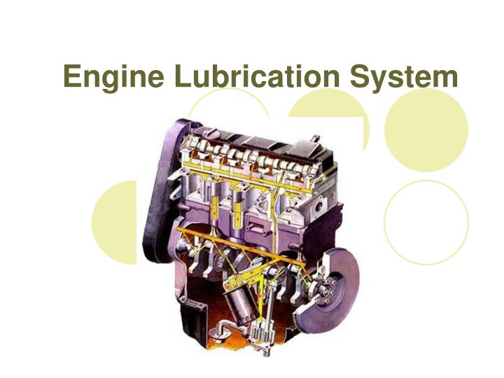 engine lubrication system n.
