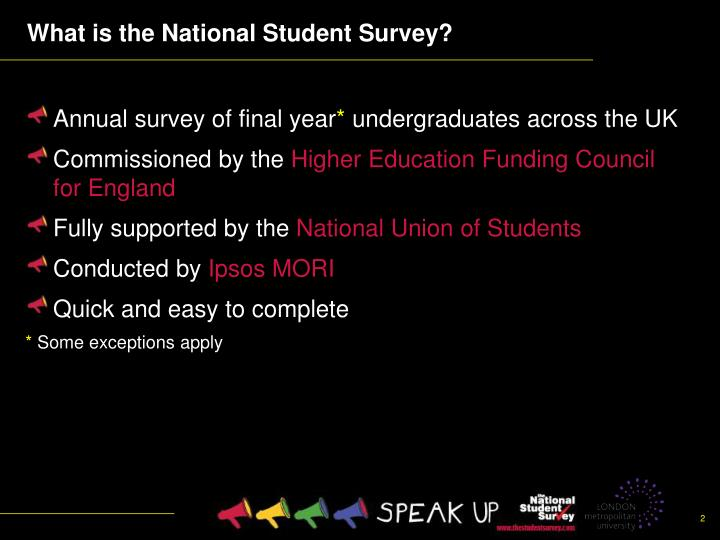 What is the national student survey1