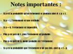 notes importantes