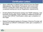 certification letters